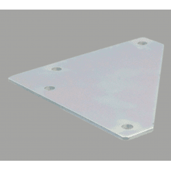 Corner fastening plate for 30x30 profile with 8mm slot