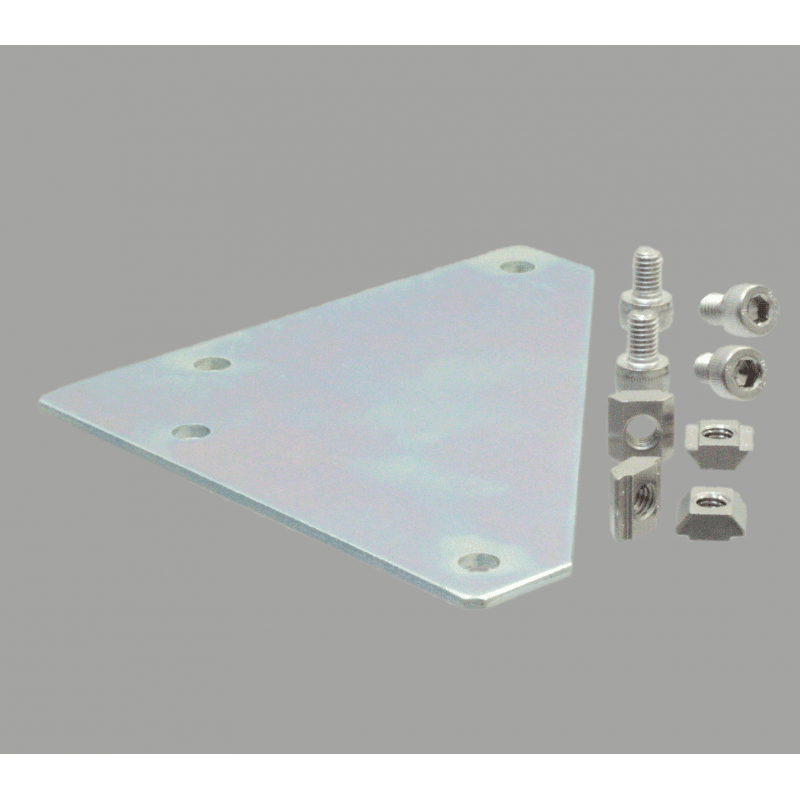 Corner fastening plate for 40x40 profile with 10mm slot