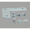 L-shaped fastening plate for 20x20 profile with 6mm slot