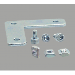 L-shaped fastening plate for profile with 10mm slot