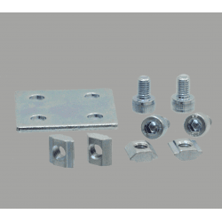 Double fastening plate for 20x20 profile with 6mm slot – With fixings