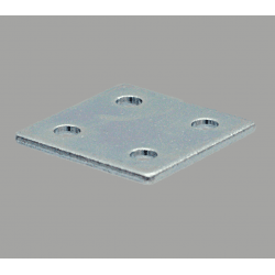 Double fastening plate for 40x40 profile with 10mm slot – With fixings