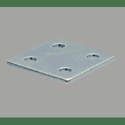 Plaque de fixation double pour profilés 40x40 à fente de 10 mm - Avec visserie