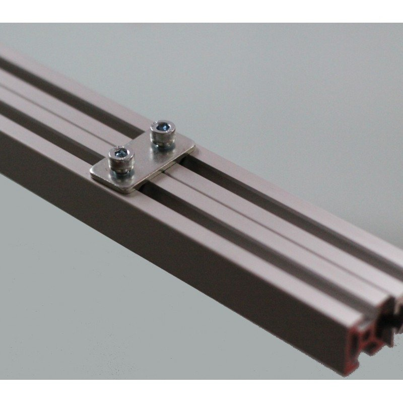 Fastening plate for 20x20 profile with 6mm slot – With fixings