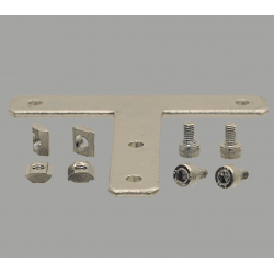 T-shaped fastening plate for 30x30 profile with 8mm slot