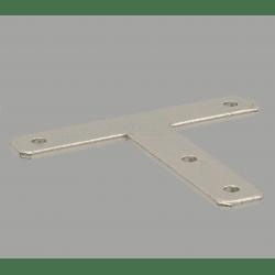 Plaque de fixation en T pour profilés fente de 10 mm