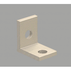 Equerre fine pour profilé aluminium fente de 6 mm