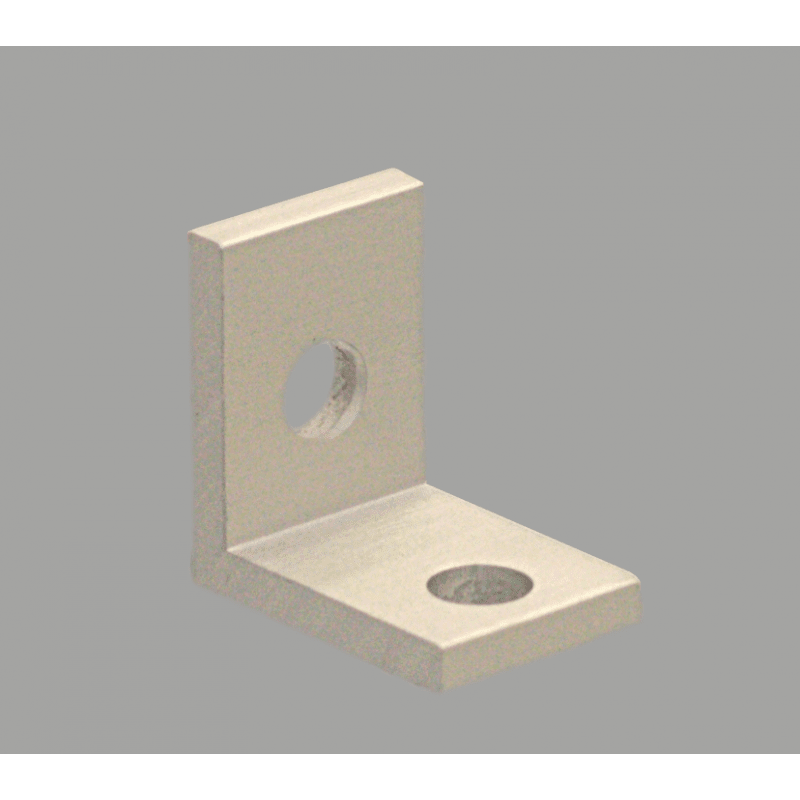 Slim bracket for 6mm slot aluminium profile