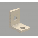 Slim bracket for 40 aluminium profile 10mm slot