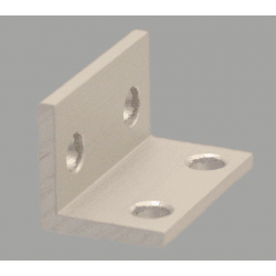 Double slim bracket for 6mm slot aluminium profile