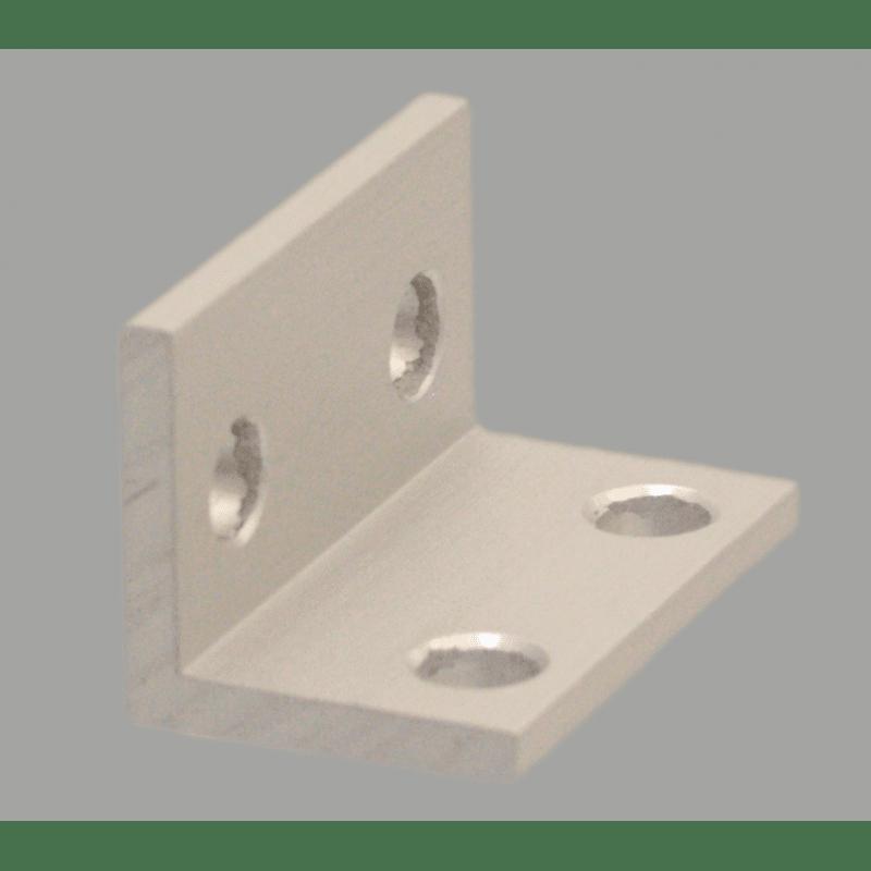 Equerre fine double pour profilé aluminium fente de 6 mm