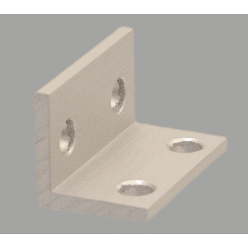 Equerre fine double pour profilé aluminium 40 fente de 10 mm