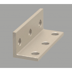 Triple slim bracket for 6mm slot aluminium profile
