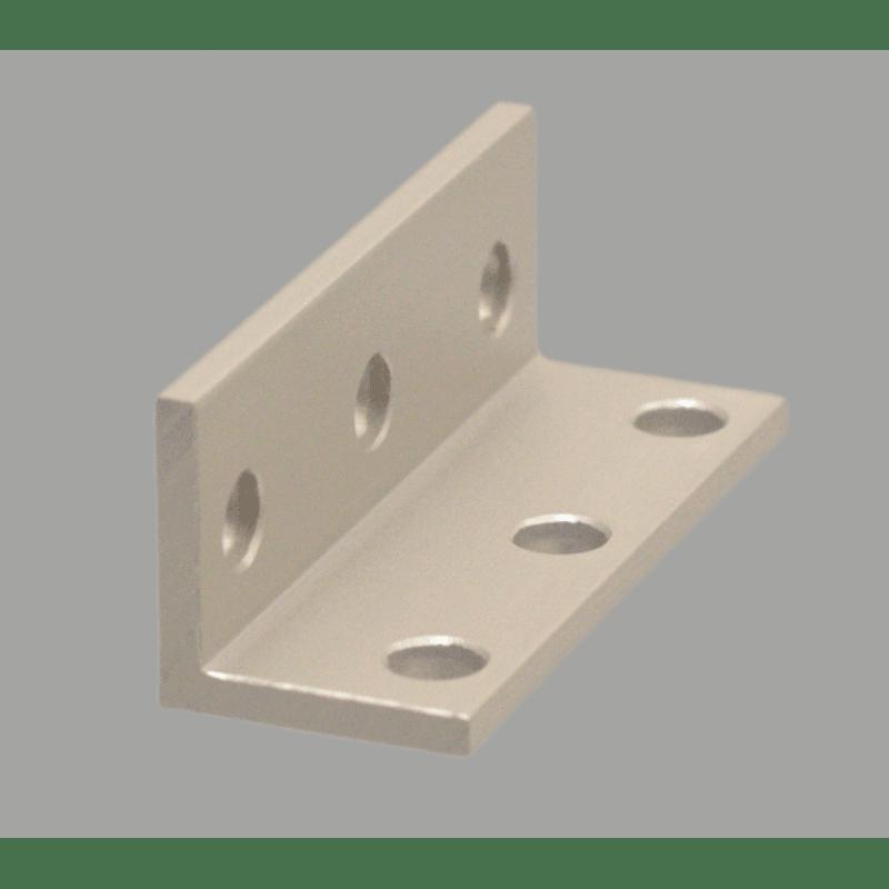 Equerre fine triple pour profilé aluminium fente de 6 mm