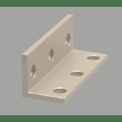 Equerre fine triple pour profilé aluminium fente de 8 mm