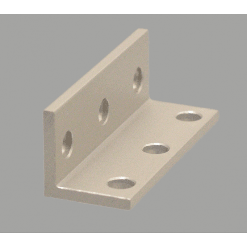 Triple slim bracket for 8mm slot aluminium profile