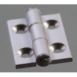 Charnière en aluminium pour profilé fente de 8 mm