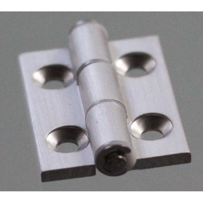 Aluminium hinge for 40x40 profiles with 10mm slot