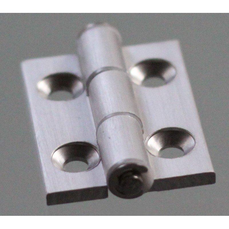 Charnière en aluminium pour profilé fente 45x45 de 10 mm + visserie