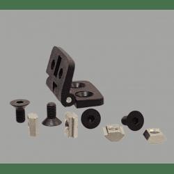 Charnière en nylon pour profilé fente de 6 mm