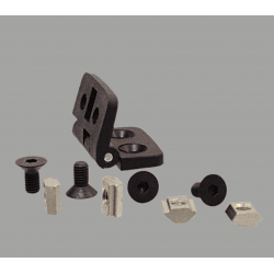 Nylon hinge for 20x20 profiles