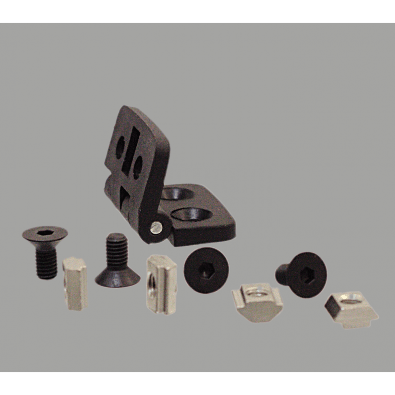 Nylon hinge for profiles with 6mm slot