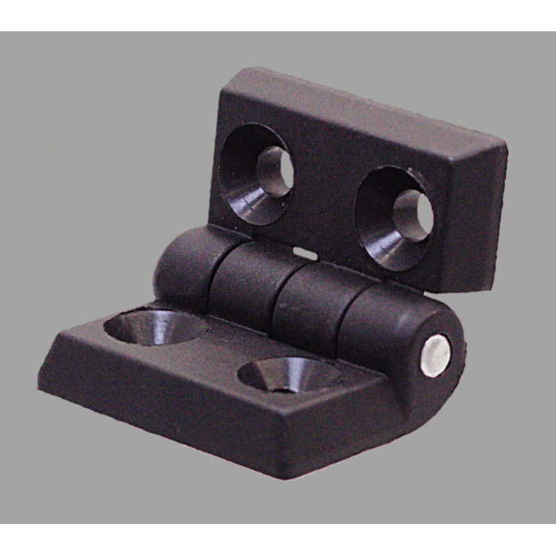 Nylon hinge for 30x30 profiles