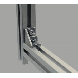 Equerre de fixation profilés 8 mm