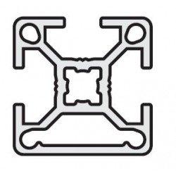 Aluminium profile 30x30 8mm slot  black anodised