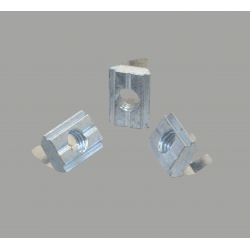 Pack of 10 post-assembly fastening nuts for support for 8mm slot profiles – M6 threading