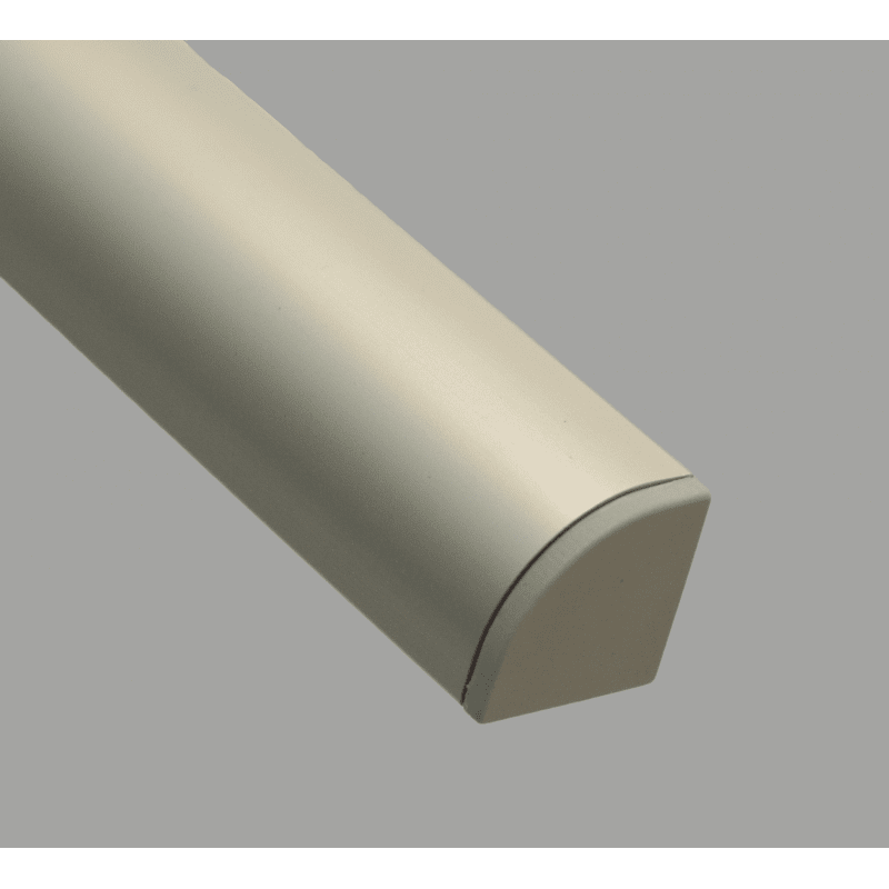 Embout de protection pour profilés aluminium arrondi 30x30 fente de 8mm - Gris