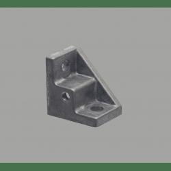 Equerre de fixation profilés 10 mm - avec trou de fixation - pour profilés 40 ou 80