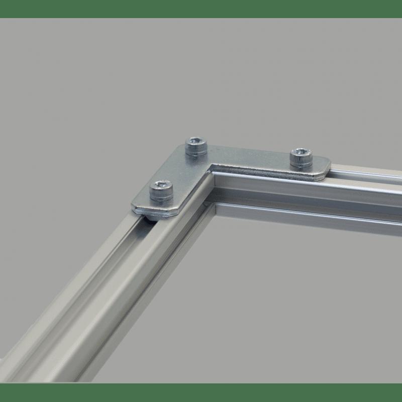 Plaque de fixation en L pour profilés 20x20 fente de 6 mm