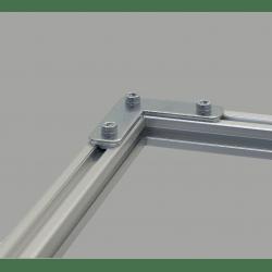 Plaque de fixation en L pour profilés 30x30 fente de 8 mm