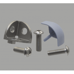 Assembly connector – three rounded 8mm profiles – Grey