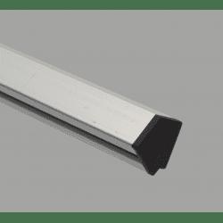 Embout de protection pour profilés20x20 angle de 45° - fente de 6 mm - Noir