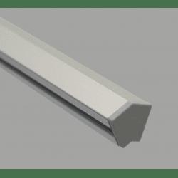 Embout de protection pour profilés20x20 angle de 60° - fente de 6 mm - Gris