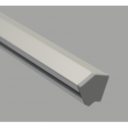 Protective cap for 30° angle 20x20 profiles with 6mm slot – Grey