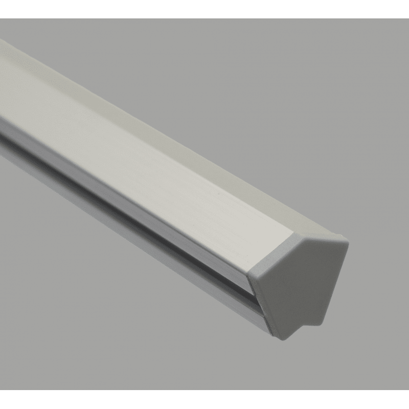 Protective cap for 30° angle 30x30 profiles with 8mm slot – Grey
