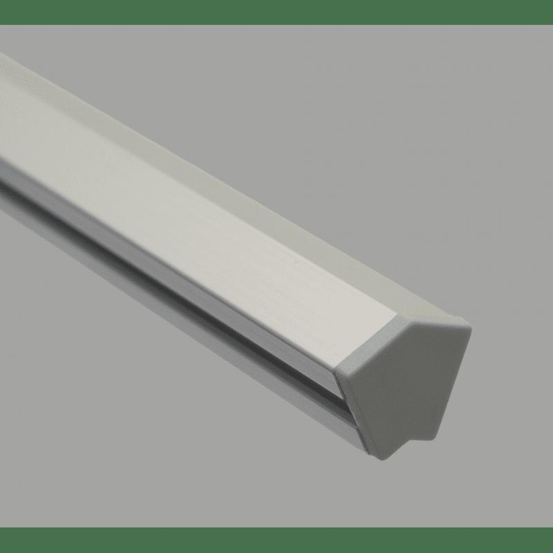 Embout de protection gris pour profilés 2C45C AS 10-45 - Gris