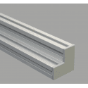 Protective cap for 80x80x40 aluminium profiles with 10mm slot – Grey