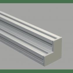 Embout de protection pour profilés aluminium 80x80x40 fente de 10mm - Gris