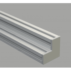 Embout de protection pour profilés aluminium 90x90x45 fente de 10mm - Gris