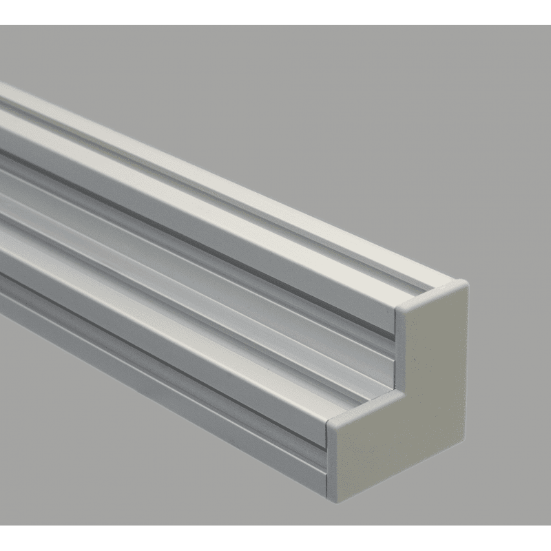 Protective cap for 90x90x45 aluminium profiles with 10mm slot – Grey