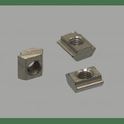 Lot de 10 écrous de fixation pour profilés à fente de 6 mm - Taraudage M3