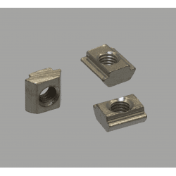 Pack of 10 fastening nuts for 6mm slot profiles – M3 threading