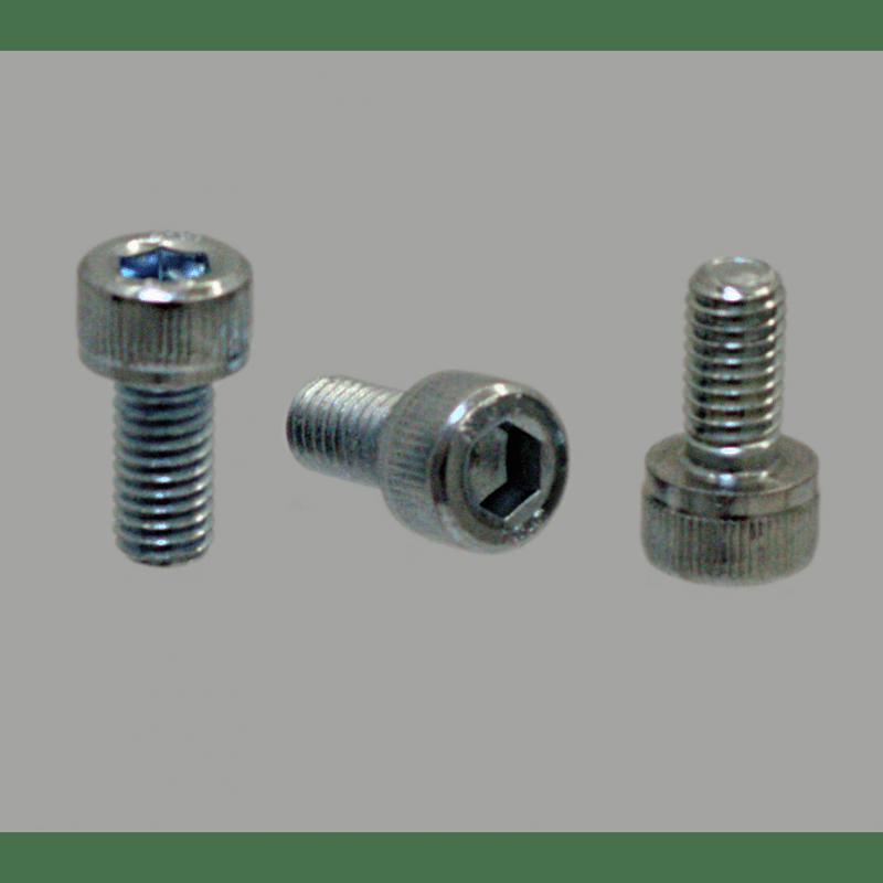 Lot de 10 vis de fixation M4x20 pour profilé à fente de 10mm - Filetage M4 - Tête à six pans creux