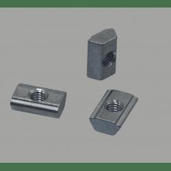 Lot de 10 écrous de fixation post-montage pour profilés à fente de 6 mm - Taraudage M5
