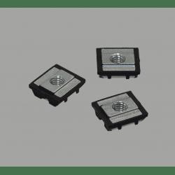 Lot de 10 écrous de fixation avec fonction de maintien provisoire pour profilés à fente de 10 mm - Taraudage M8