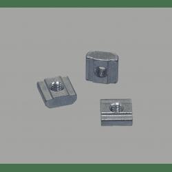 Lot de 10 écrous de fixation pour profilés à fente de 10 mm - Taraudage M4